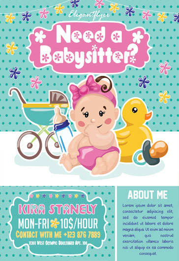 babysitting flyer examples  u2013 by elegantflyer