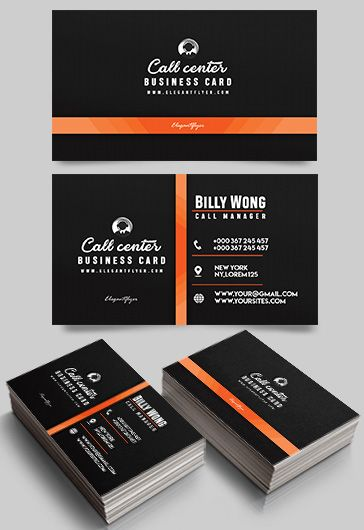 call center  u2013 free business card templates psd  u2013 by
