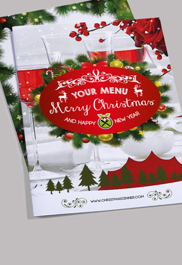 Christmas Menu Bi-Fold Brochure