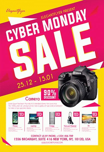 free cyber monday sale flyer template  u2013 by elegantflyer