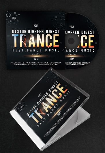 trance  u2013 free cd cover psd template  u2013 by elegantflyer