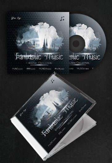 fantastic music  u2013 free cd cover psd template  u2013 by elegantflyer