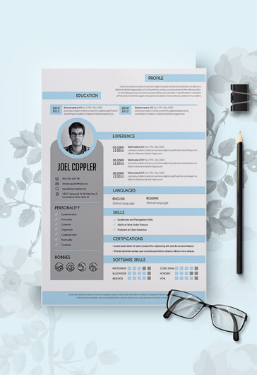 Professional CV and Cover Letter PSD Template