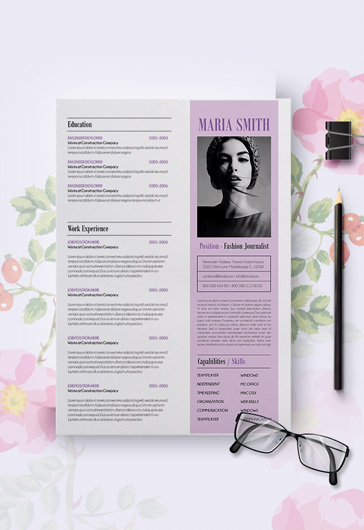 Template for Resume CV Cover Letter