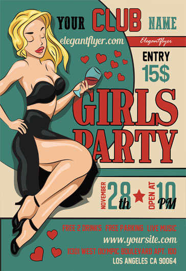 Girls Party- Flyer PSD Template