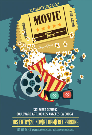 Movie Time – Flyer PSD Template