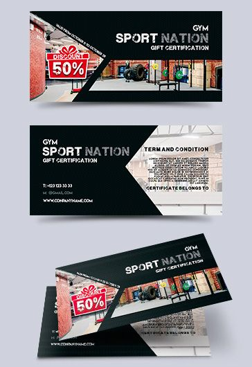 Sport Store – Free Gift Certificate PSD Template