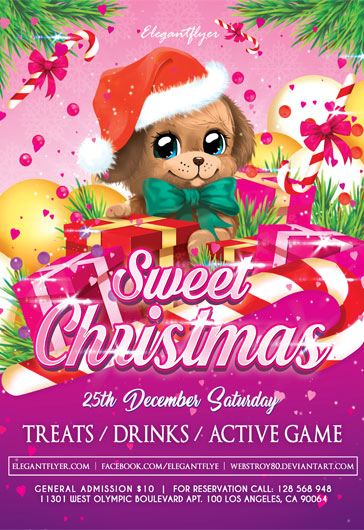 Merry Christmas Free Poster Template