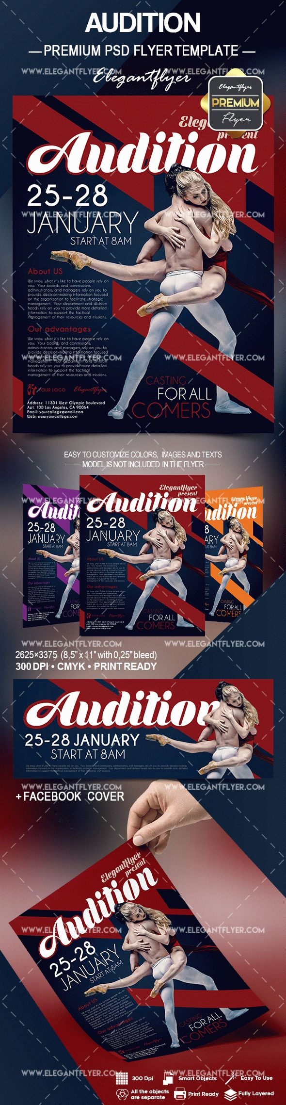 Audition – Flyer PSD Template