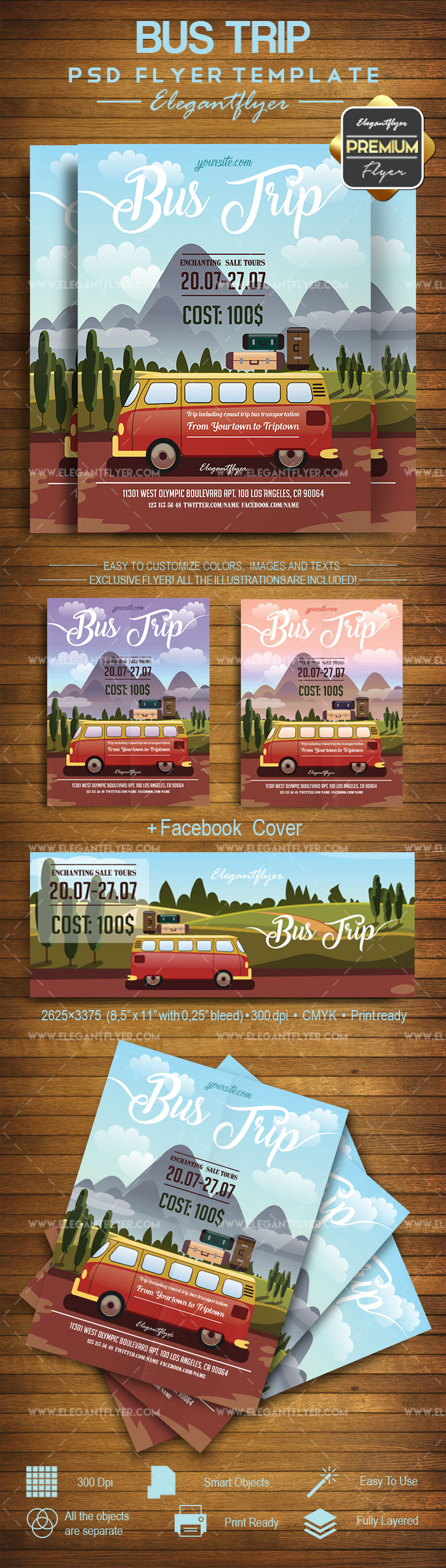 Bus Trip Flyer Templates