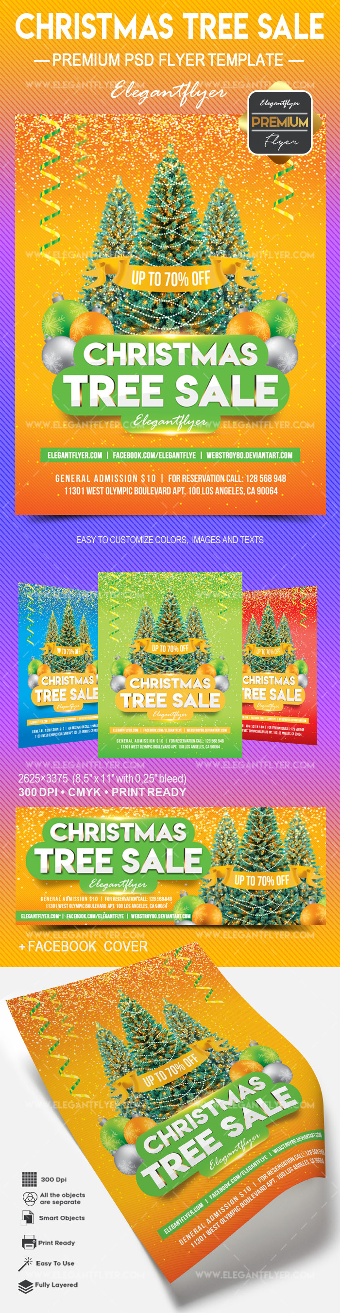 Christmas Tree Sale – Flyer PSD Template