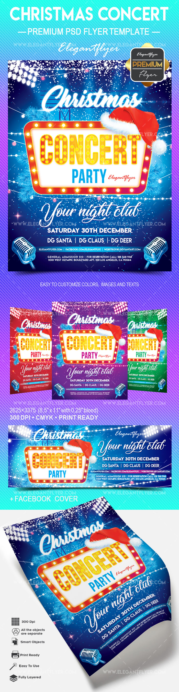 Christmas Concert – Flyer PSD Template