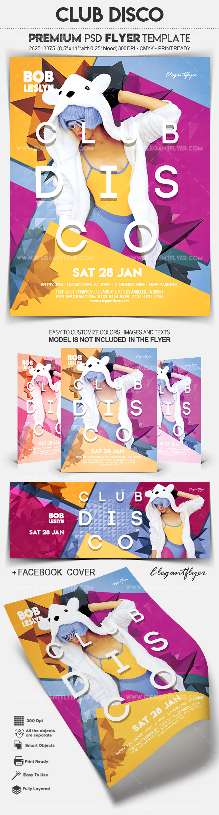 Club Disco – Flyer PSD Template