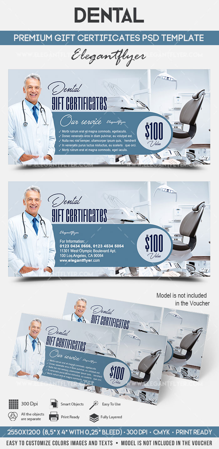 dental gift certificate template  u2013 by elegantflyer