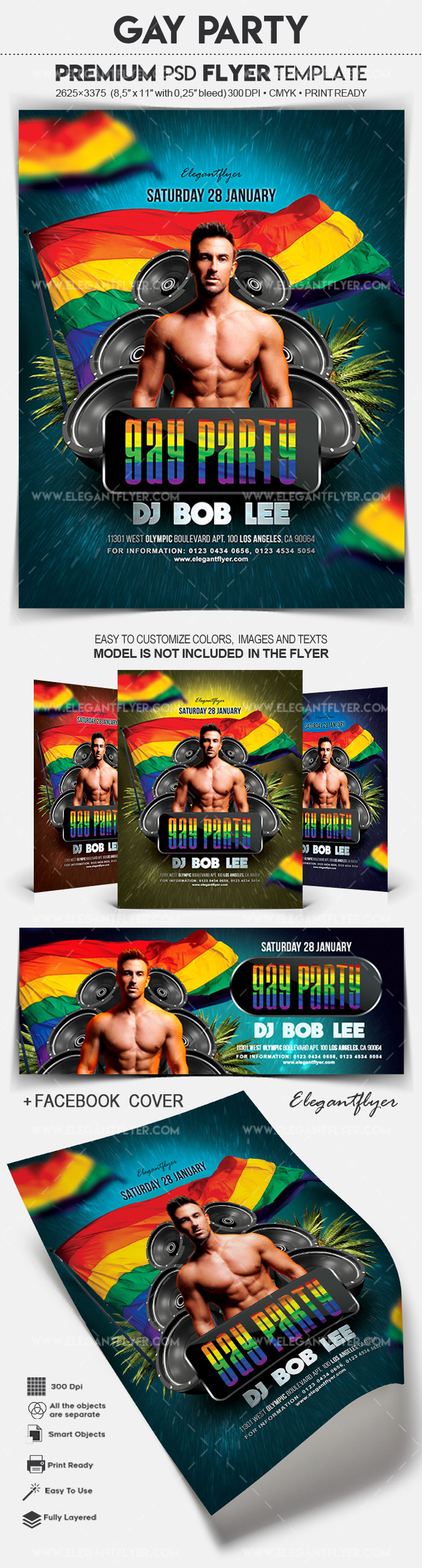 Gay Party Poster Template