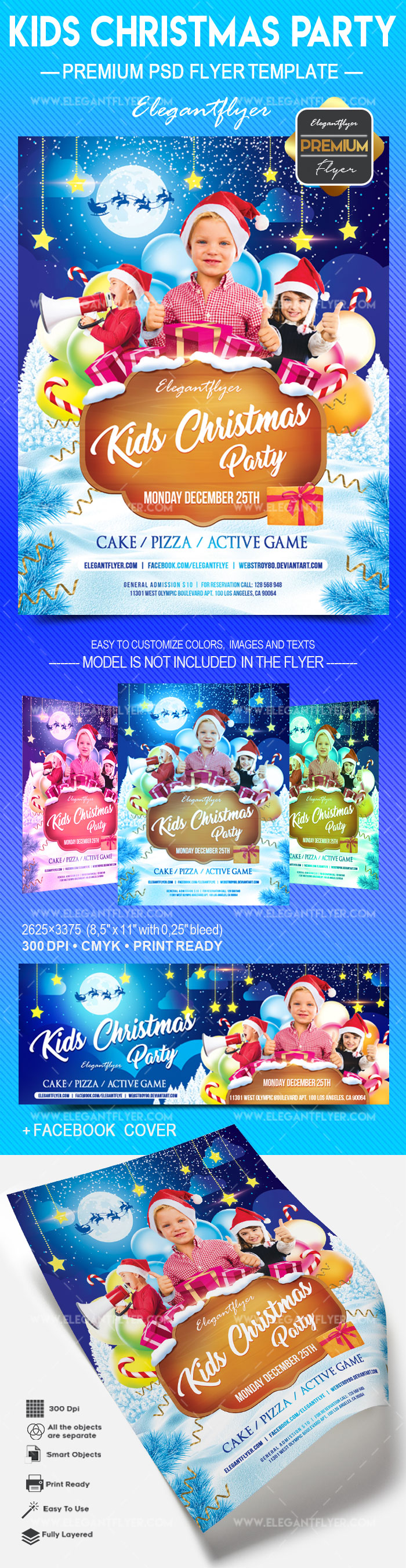 Kids Christmas party – Flyer PSD Template