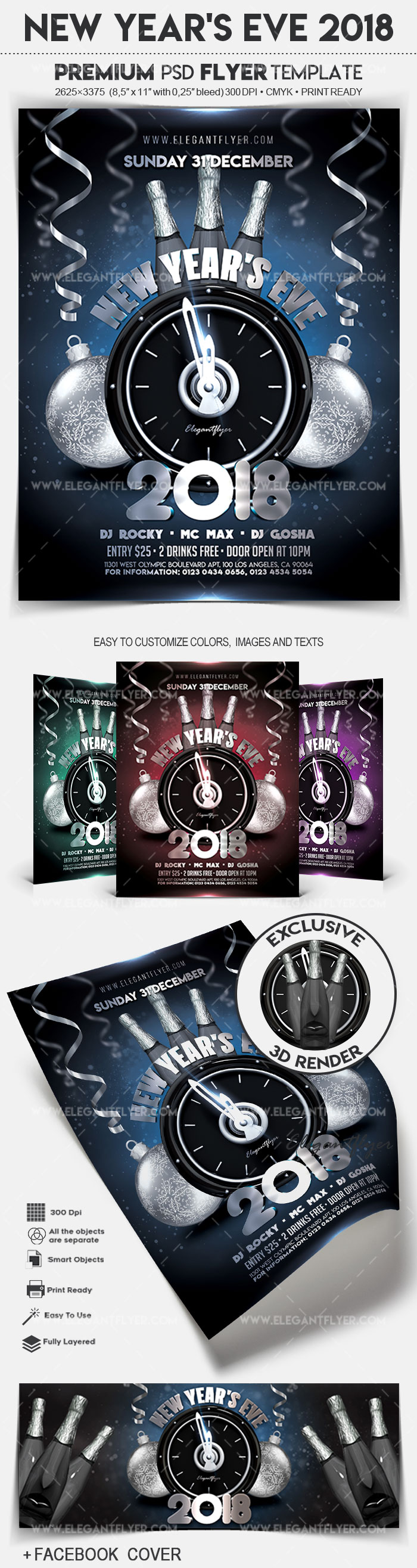 New Year's Eve 2018 – Flyer PSD Template