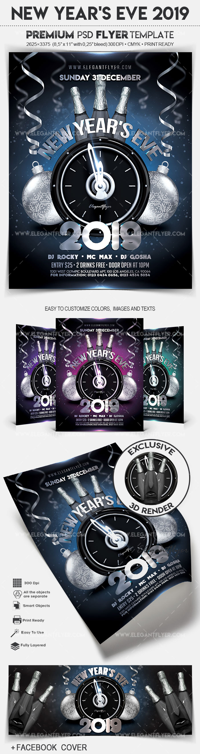 New Year's Eve 2019 – Flyer PSD Template