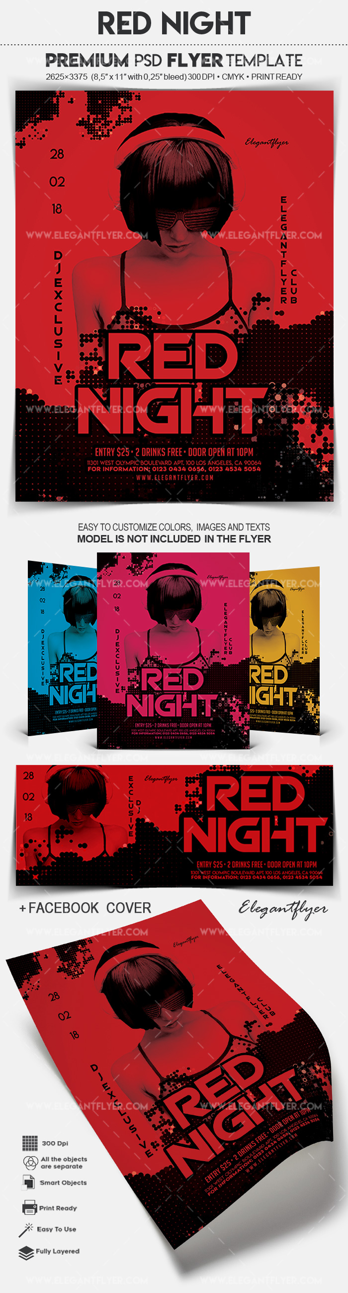 Red Night – Flyer PSD Template