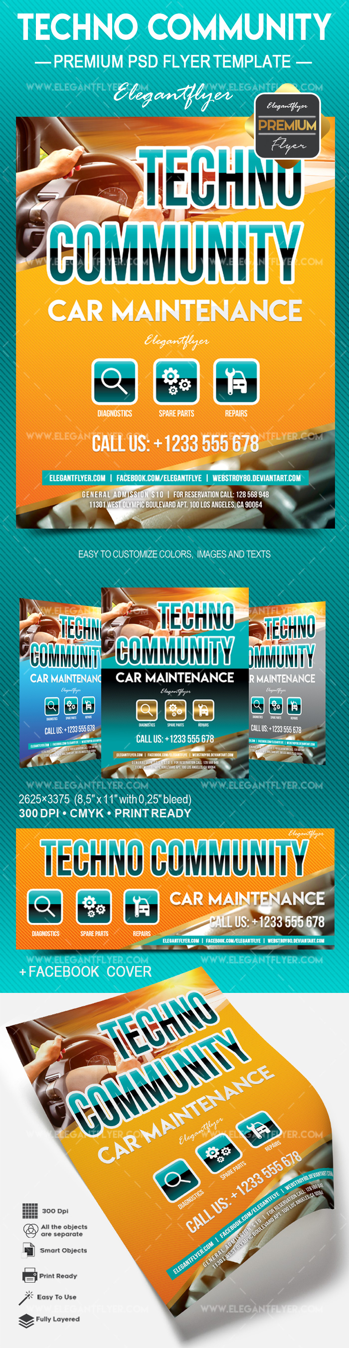 Techno Community – Flyer PSD Template