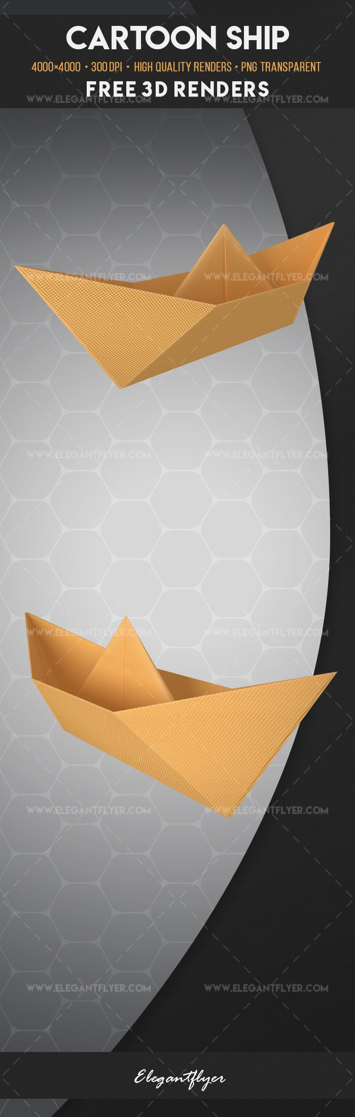 Cartoon Ship – Free 3d Render Templates