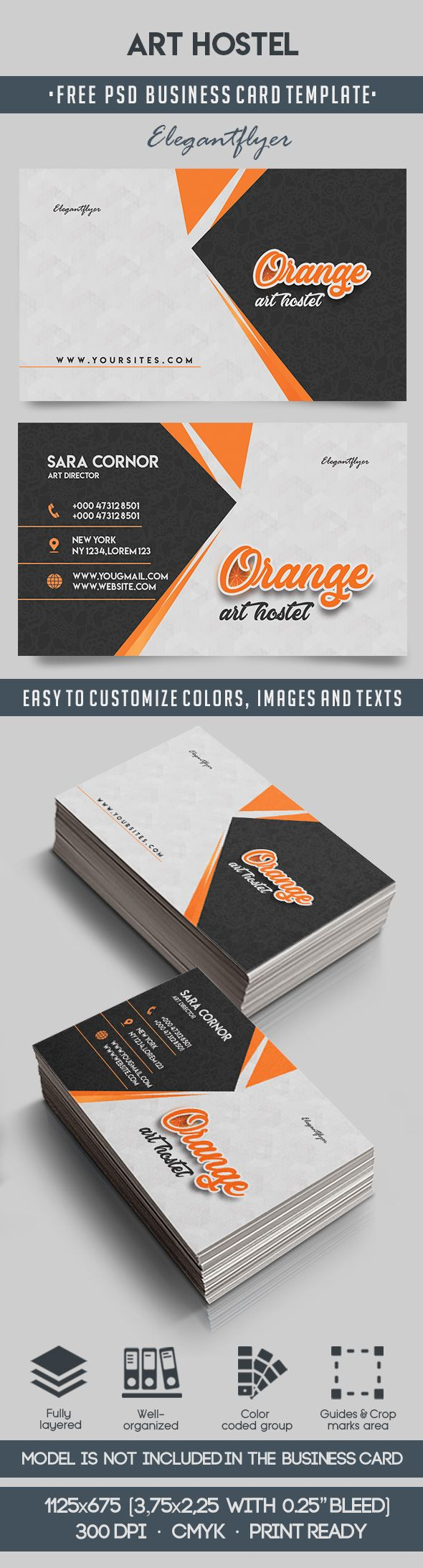 Art hostel free business card templates psd by elegantflyer art hostel free business card templates psd reheart Choice Image