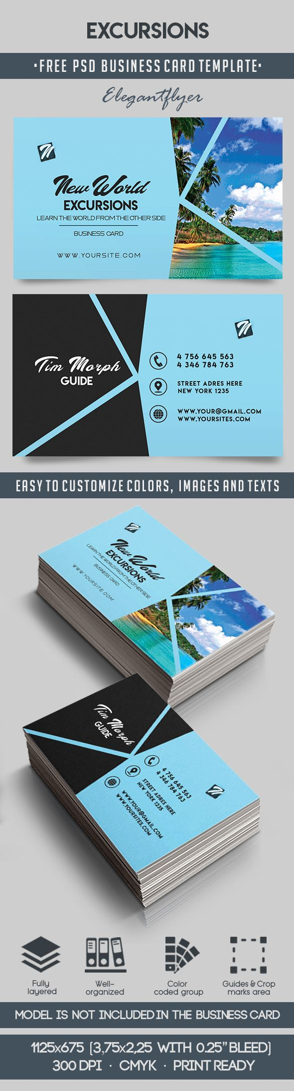 Excursions – Free Business Card Templates PSD