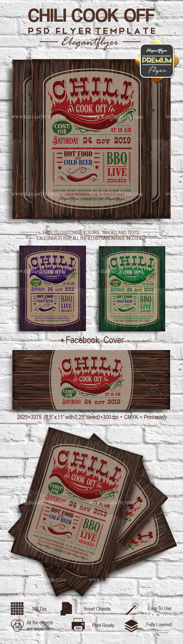 Chili Cook Off- Flyer PSD Template
