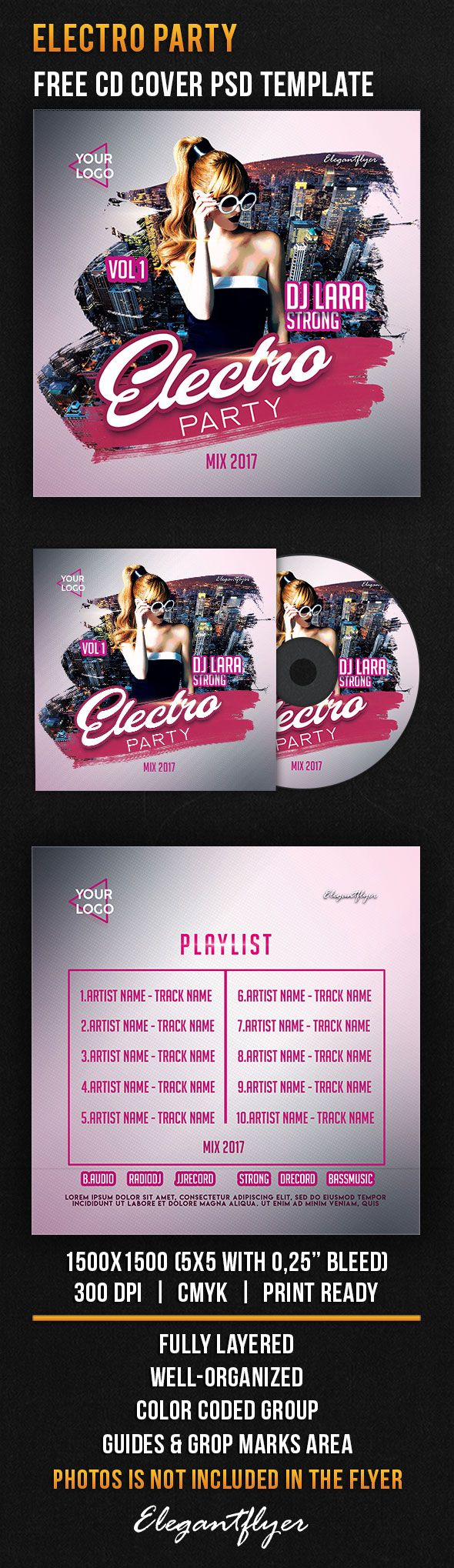 Electro Party Music Free CD Cover