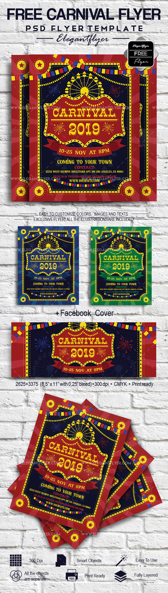 Carnival Free Flyer Template