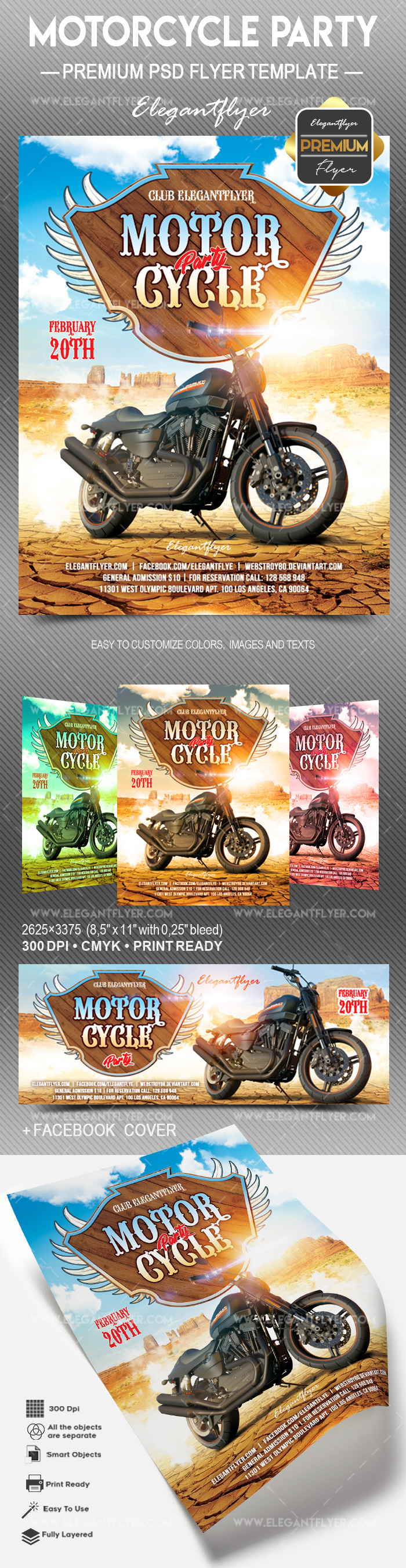 Motorcycle party v02 – Flyer PSD Template