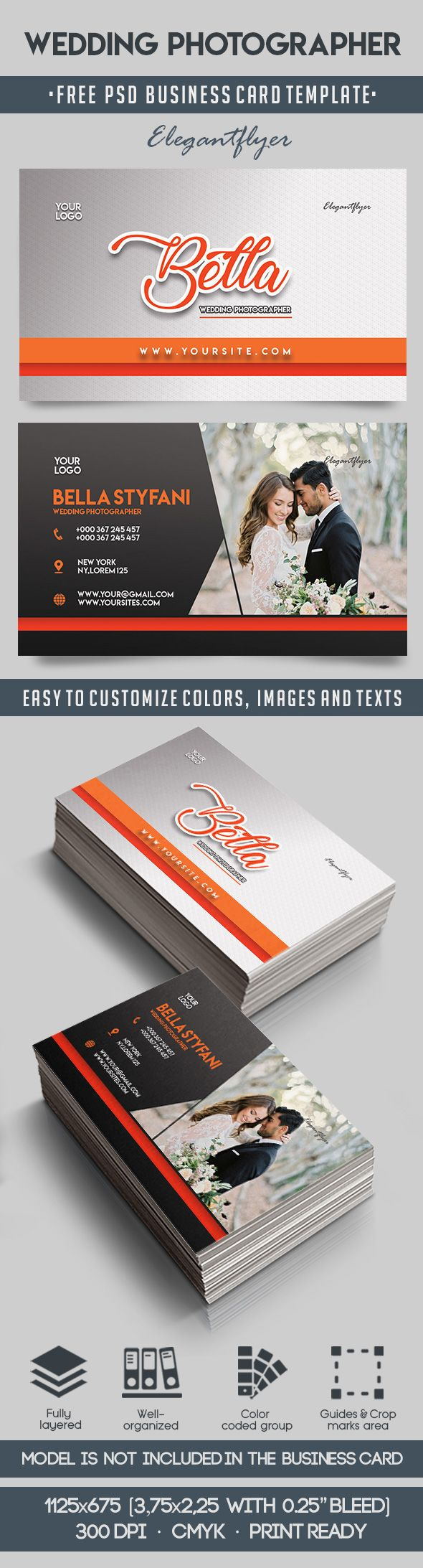 Free Business Card Wedding Photographer
