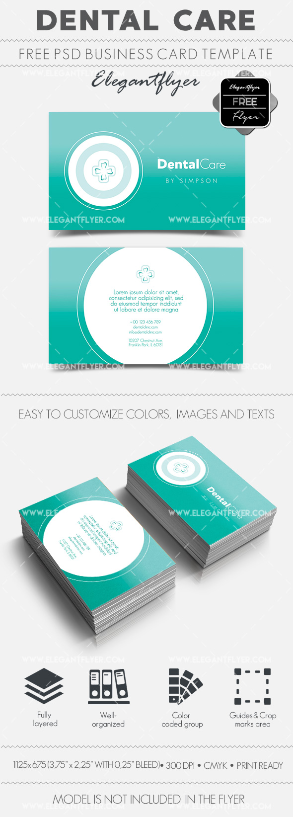 Dental Care – Free Business Card Templates PSD