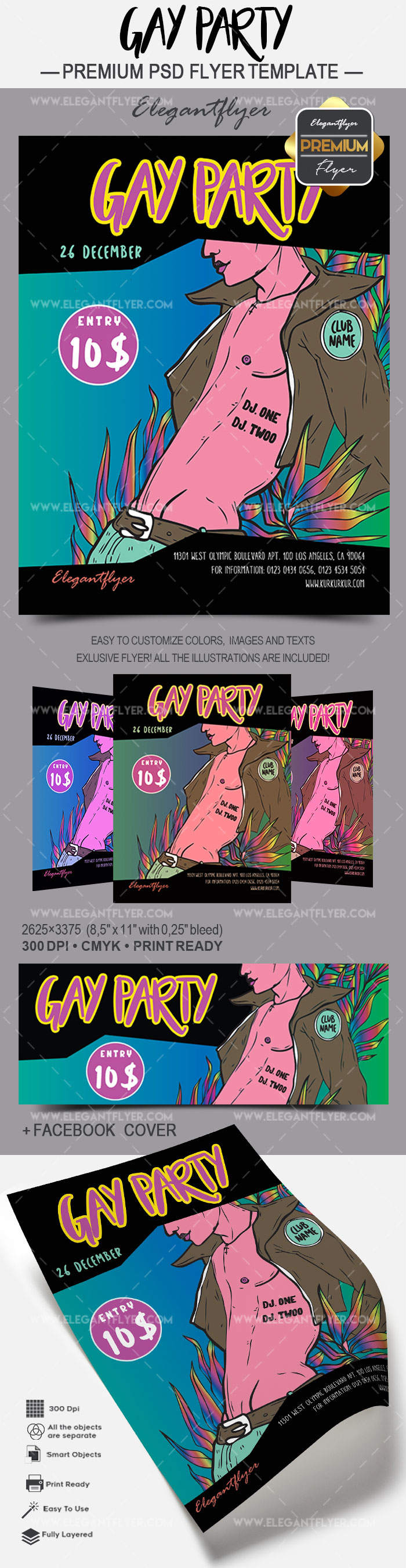 Invitation Flyer for Gay Party