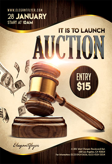 Auction – Flyer PSD Template