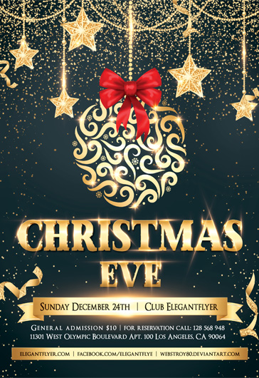 Christmas EVE – Flyer PSD Template