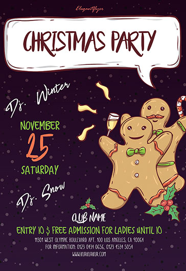 Сhristmas Party – Flyer PSD Template