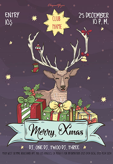 Merry Xmas – Flyer PSD Template