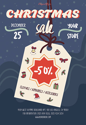 Winter Sale – Free PSD Flyer Template + Facebook Cover + Instagram Post