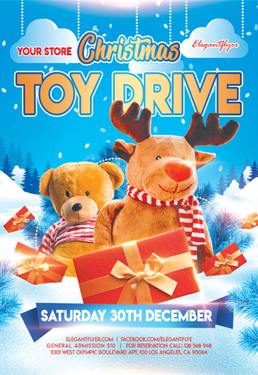 Christmas Toy Drive – Flyer PSD Template