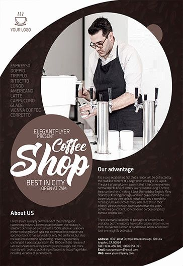 Free Coffee Shop Flyer Template