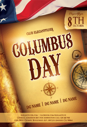 Columbus Day Holiday Template