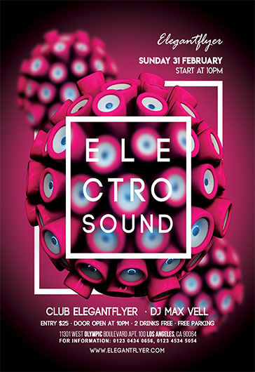Disco Night Flyer Template  By Elegantflyer