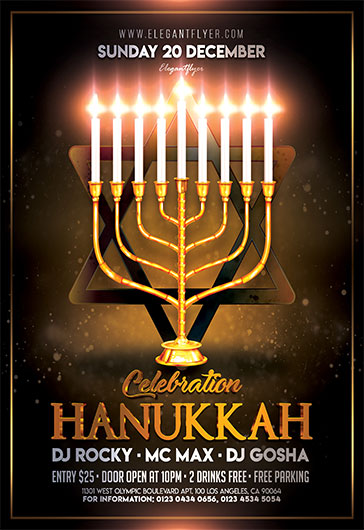 Hanukkah Celebration – Flyer PSD Template