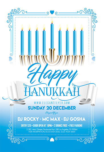 Happy Hanukkah – Free Flyer PSD Template