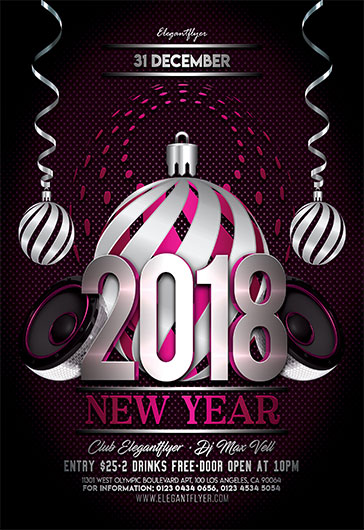 Free New Year Flyer Templates For Photoshop  By Elegantflyer