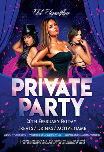Women Private Party PSD Flyer