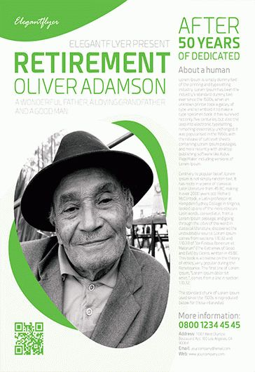 Retirement – Flyer PSD Template
