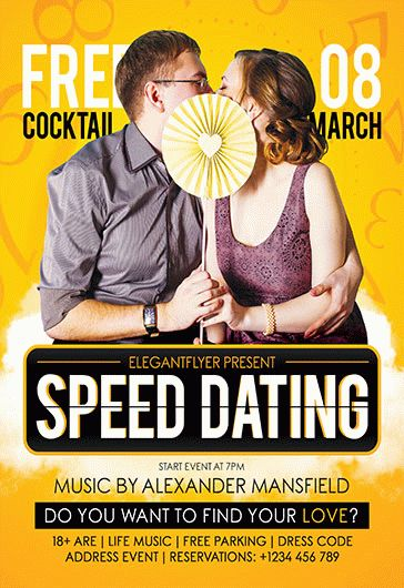 Speed Dating – Flyer PSD Template