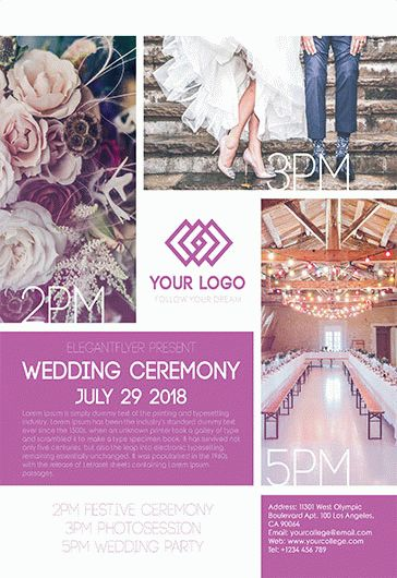 Wedding Ceremony – Flyer PSD Template